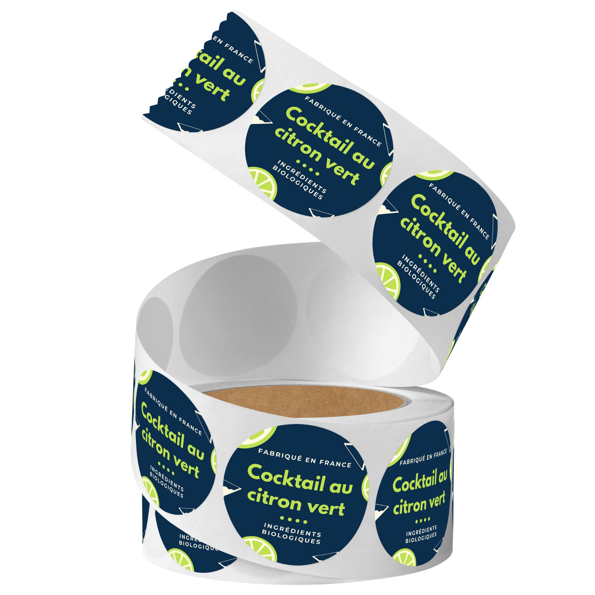 Etiquettes adhésives en rouleau format standard